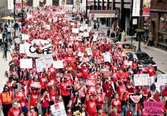 Chicago teachers on the march fill the streets of downtown