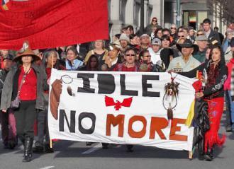 Idle No More activists march through Victoria in British Columbia