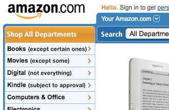 An honest version of Amazon's home page