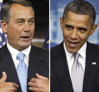 House Speaker John Boehner and President Barack Obama