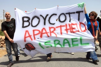 BDS protesters march to build the movement