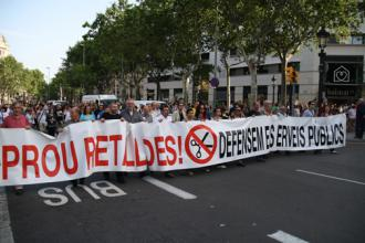 Spanish protesters march against austerity in Barcelona (Daniel Chong Kah Fui)