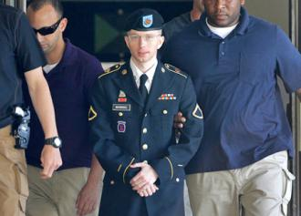 Bradley Manning being led into court
