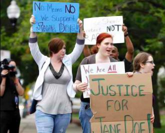 CAPSA activists demand justice for Jane Doe outside the Cook County courthouse