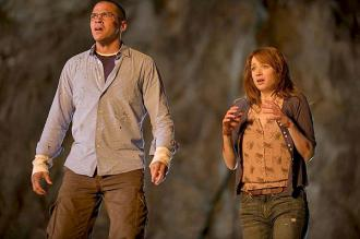 Jesse Williams and Kristen Connolly in Cabin in the Woods