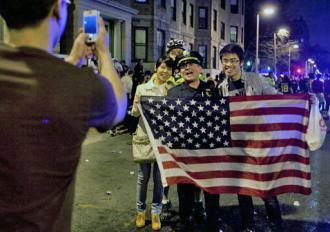 Celebrations took place in Boston streets after the second suspect was detained