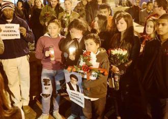 A vigil for Chuy Huerta in Durham, N.C.
