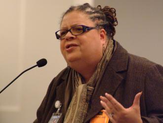 CORE presidential candidate Karen Lewis (Garth Liebhaber)