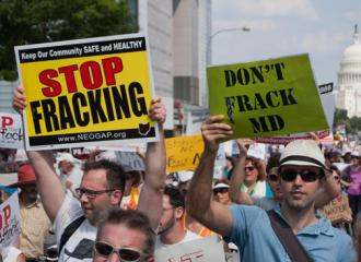 Marching against fracking in Washington, D.C. (Chesapeake Climate)