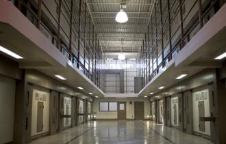 Inside a maximum security section of Georgia Diagnostic and Classification Prison