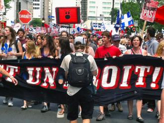 Tens of thousands of students took the streets of Montreal as the struggle entered a summer phase (Ashley Smith | SW)