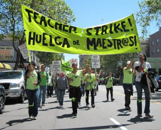 Teachers in the Oakland Educators Association on strike (Alessandro Tinonga | SW)