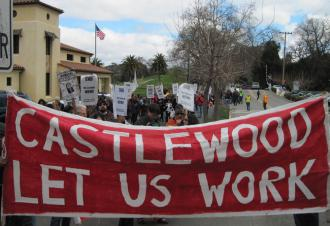 Castlewood workers and supporters marked the one-year anniversary of the lockout with a protest  (Alessandro Tinonga | SW)