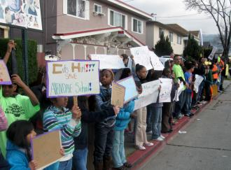 Students from Allendale Elementary School students and teachers in Oakland (Todd Chretien | SW)