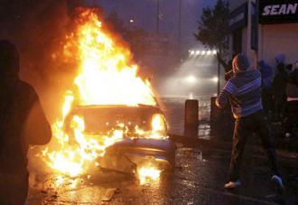 Rioting in north Belfast in July