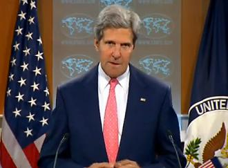 Secretary of State John Kerry speaks on Syria (State Department)