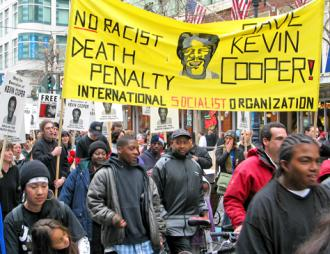Protesters marching to stop the execution of Kevin Cooper in 2004 (Josh On | ISO)