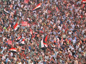 Tahrir Square was filled again in protest against the military's assault on the revolution