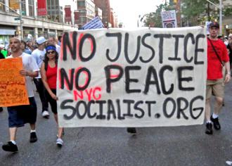 New York socialists marching for justice for Trayvon Martin (Matt Swagler | SW)