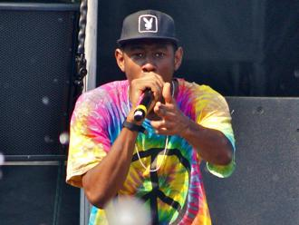 Odd Future's Tyler the Creator at the Pitchfork Music Festival (Joshua Mellin)