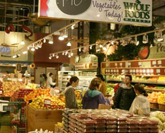 Inside a Whole Foods store