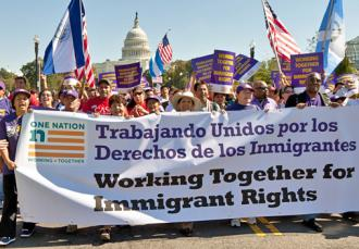 Immigrant rights activists march in Washington for just reform