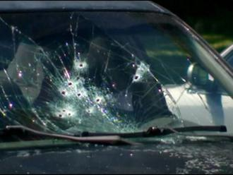 The shattered windshield left behind after Border Patrol agents killed a young woman