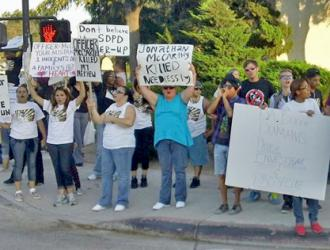 Protesters gather to demand justice for Victor Ortega last August