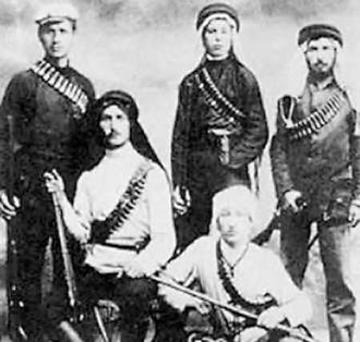 Members of the Zionist militia the Irgun during the British mandate era before 1948
