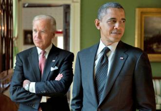 President Obama with Vice President Biden