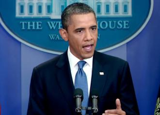 President Obama promises austerity to curb the federal deficit at a press conference (White House)