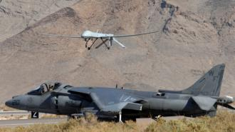 U.S. Predator drones (above) killed at least 150 people in Pakistan in the first 99 days of 2009