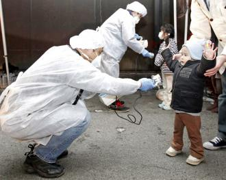 Checking for signs of radiation among children evacuated from near the Fukushima Daini nuclear power plant (Kim Kyung-Hoon)