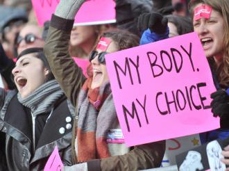 Thousands march in New York City to defend reproductive rights against legislative assaults on abortion and women's health services (J.B. Nicholas | Sipa)