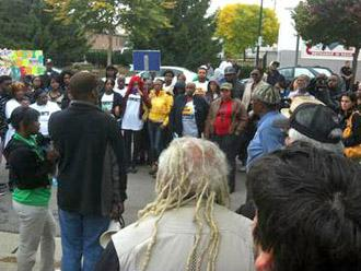 Protesters gather in Milwaukee to demand justice for Derek Williams (Sharlen Moore)
