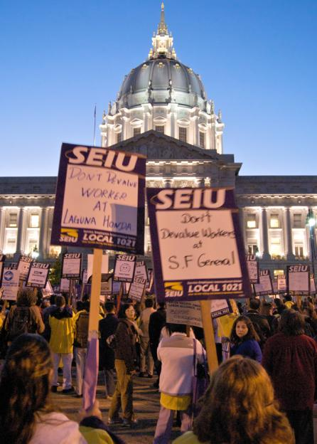 SEIU Local 1021 members protest planned in San Francisco