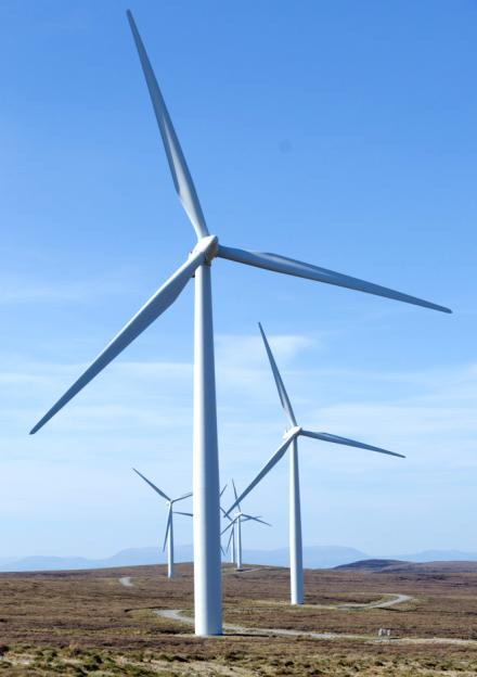 A wind farm in Scotland that produces enough energy for 54,000 households