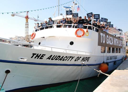 The U.S. boat from the Gaza Freedom Flotilla 2 docked in Greece