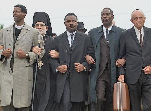 David Oyelowo (center) as Martin Luther King Jr. in Selma