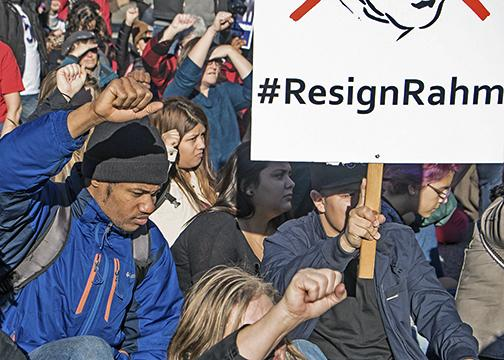 Chicagoans take the streets to demand that Mayor Rahm Emanuel resign