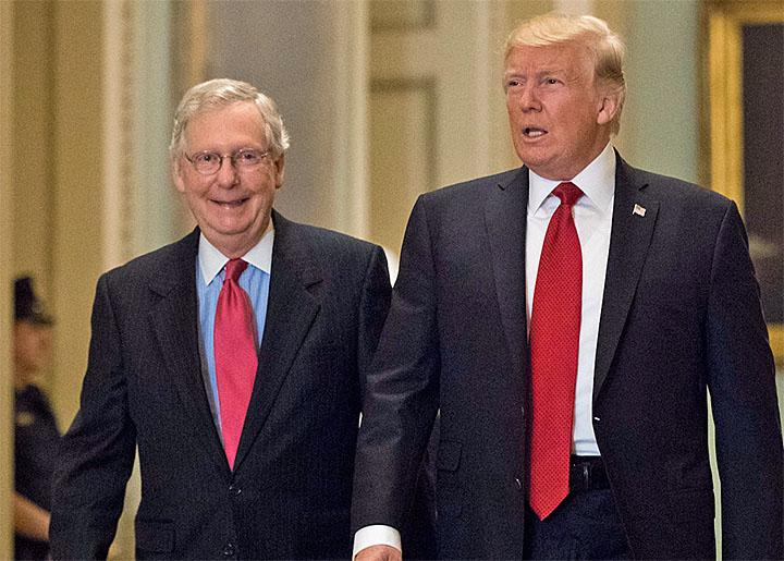 Mitch McConnell and Donald Trump on Capitol Hill