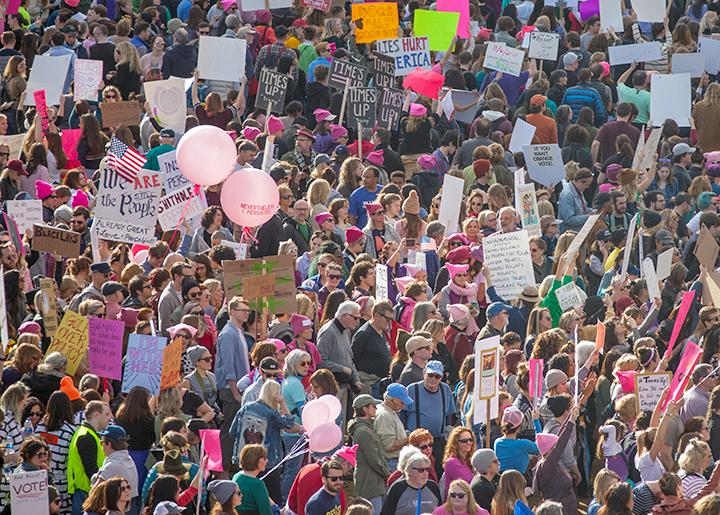 Thousands take to the streets of Nashville, Tennessee, for the 2018 Women's March