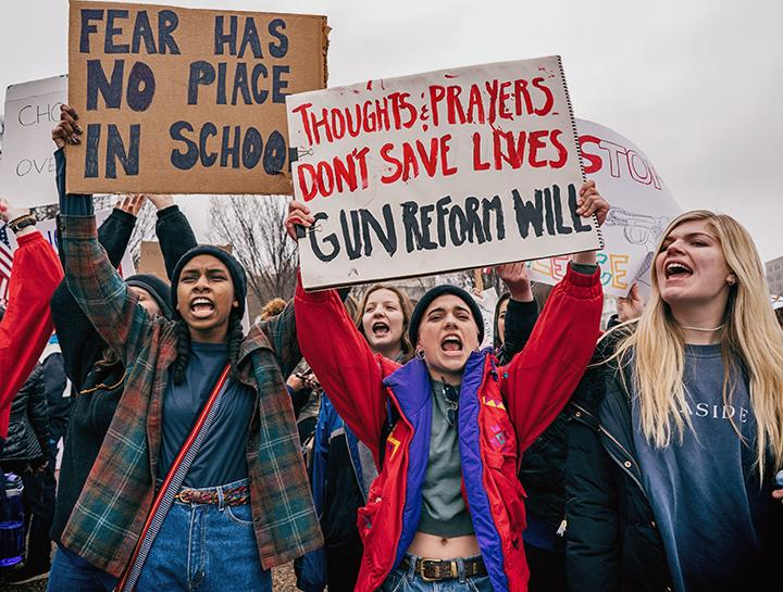 Students rally for gun reform in Washington, D.C.