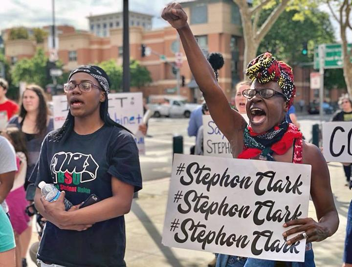 Protesters hit the streets of Sacramento to demand justice for Stephon Clark