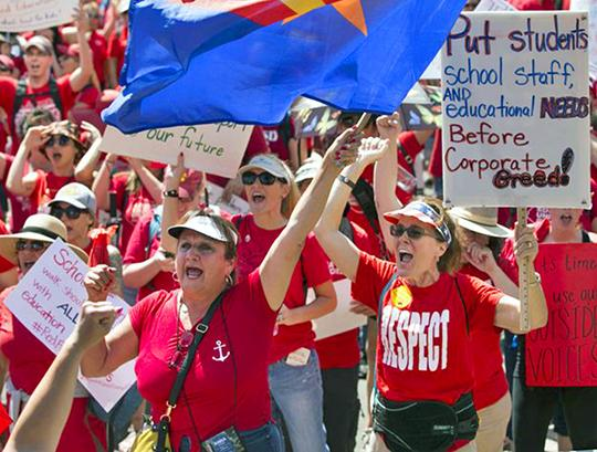 Teachers on the march in Phoenix