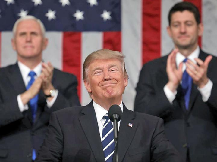 Donald Trump gives his State of the Union address