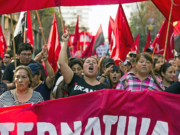 On the march in Chile