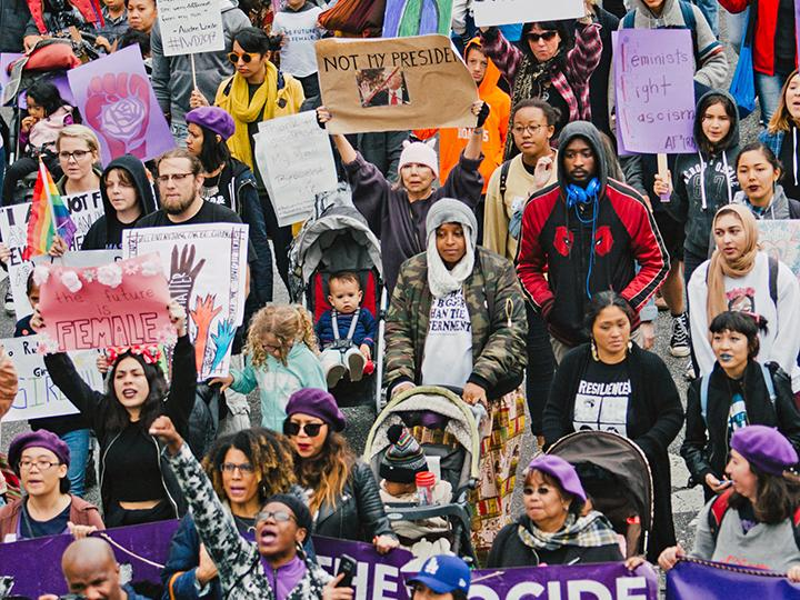 Protesters take to the streets of Los Angeles for women's liberation