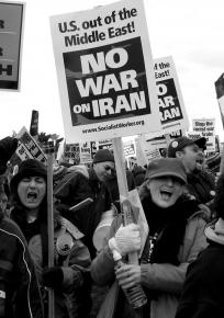 Antiwar demonstrators at the March 2007 March on the Pentagon in Washington, D.C.