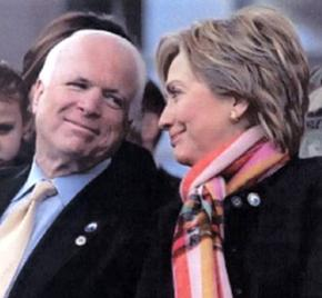 John McCain and Hillary Clinton